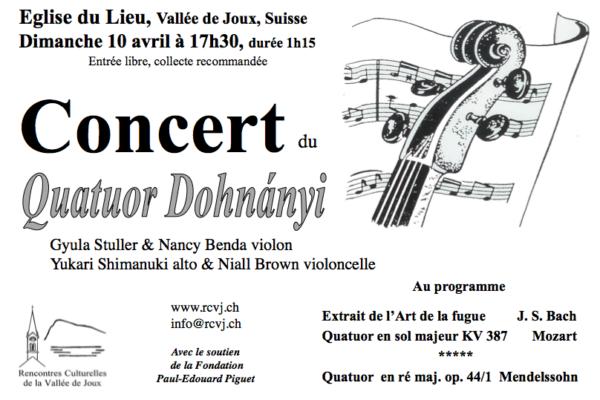 Concert du Quatuor Dohnanyi