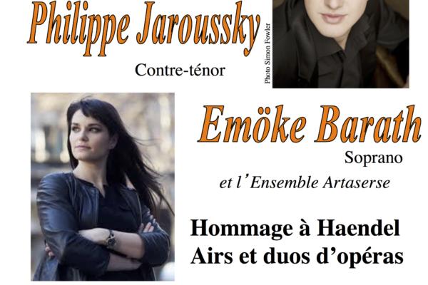 Concert de Philippe Jaroussky, Emöke Barath  et l'ensemble Artasers