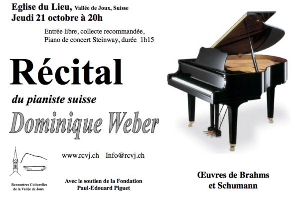 Récital du pianiste suisse Dominique Weber