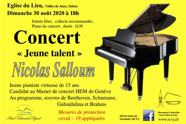 """Jeune talent"" Nicolas Salloum"