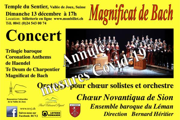ANNULE – Concert Magnificat de Bach
