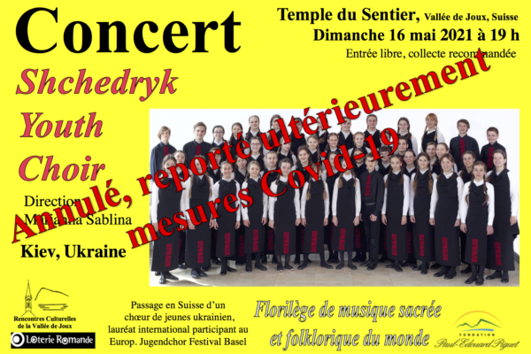 Shchedryk Youth Choir (UK) – annulation