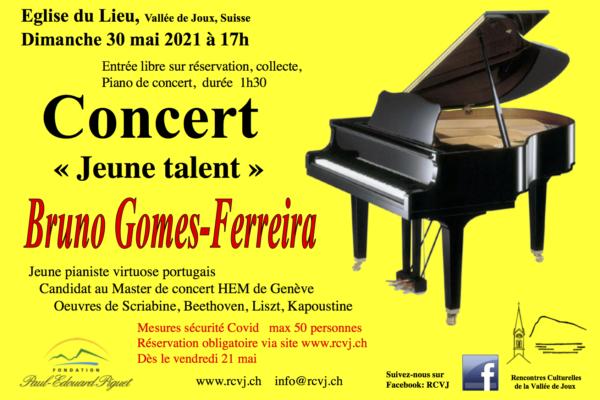 Concert « Jeune talent » Bruno Gomes-Ferreira